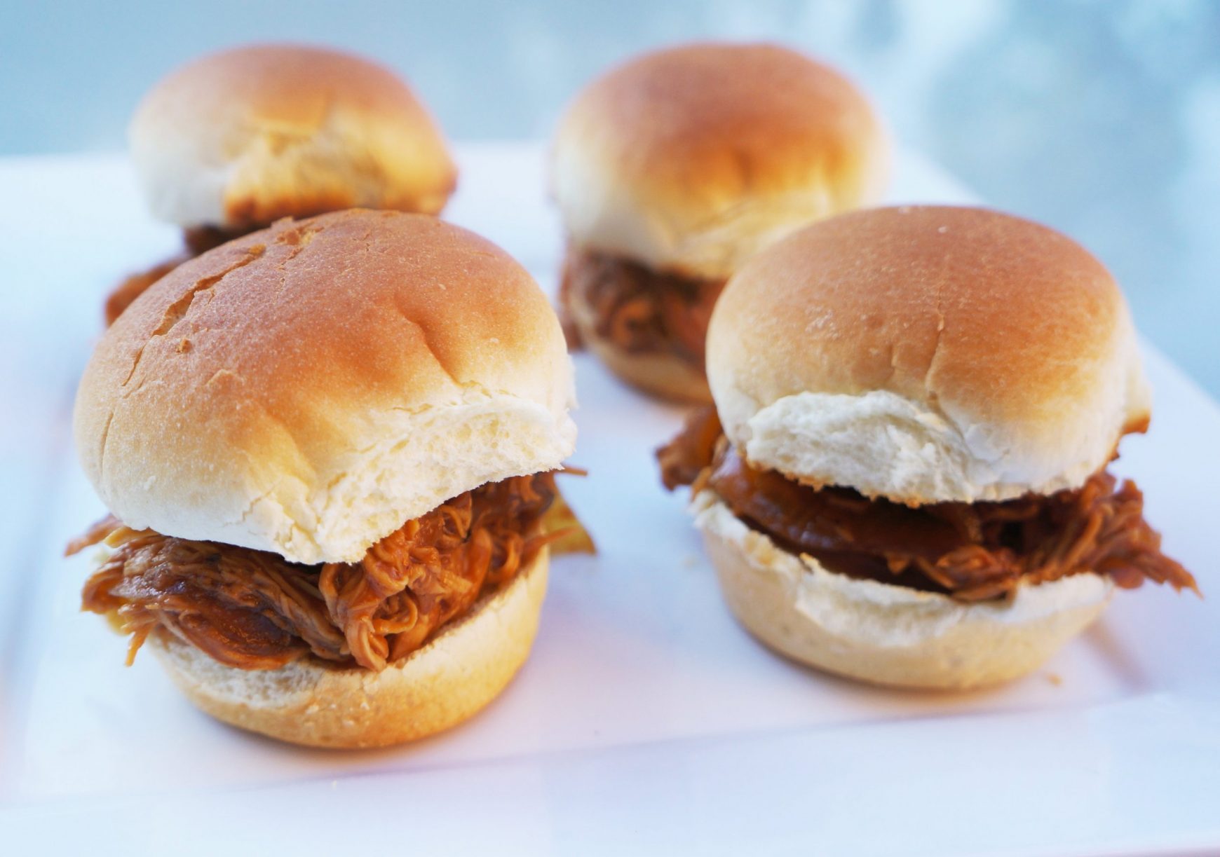 BBQ Chicken Sliders