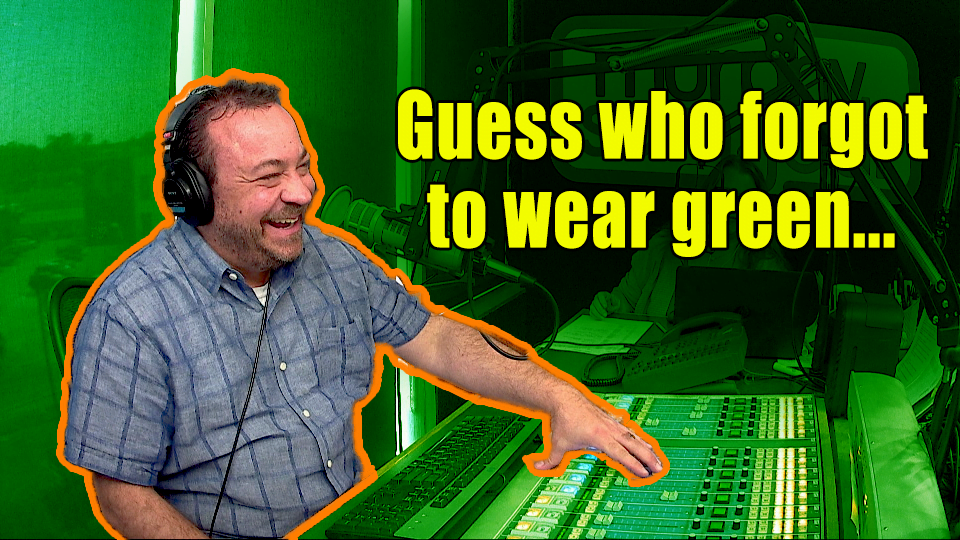 WATCH: 🍀 Happy St. Patrick's Day! 🍀 (guess who forgot to wear green)