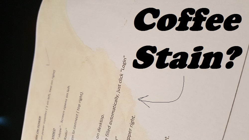 """LISTEN: The """"Coffee Stain"""""""