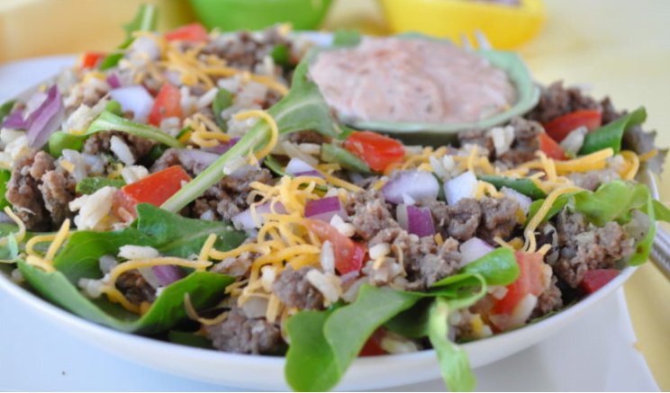 Taco Rice Salad from Holly Clegg