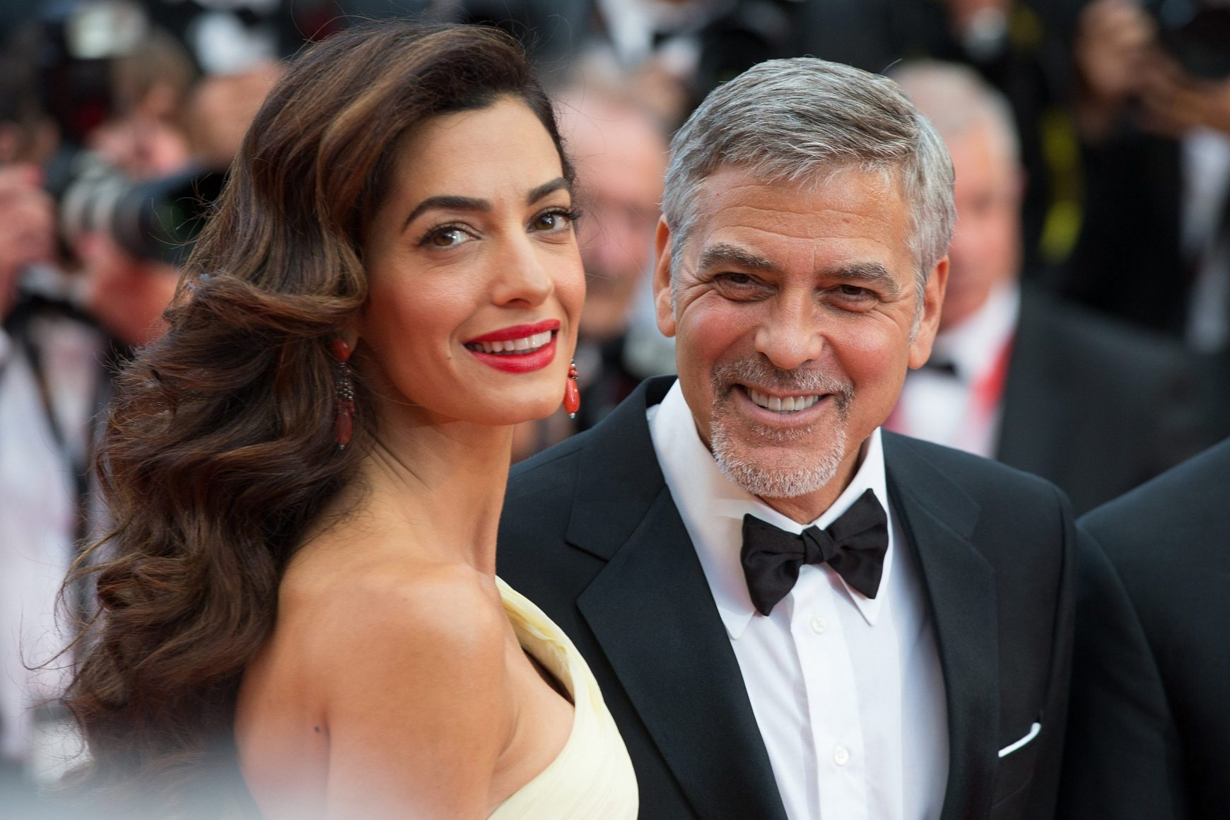 Amal Clooney opens up about George AND life with the twins.