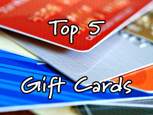 Top 5 Most Popular Gift Cards To Give